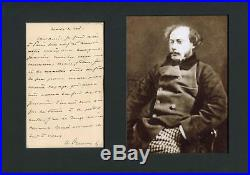 Alexandre Dumas (fils) TOP autograph, handwritten letter signed & mounted