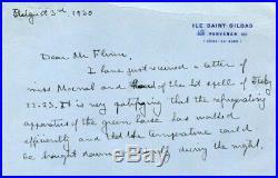 Alexis Carrel NOBEL PRIZE autograph, handwritten letter signed
