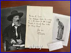 Alfred Lord Tennyson Handwritten Letter Signed To Sir James Paget Surgeon
