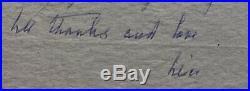 Alice B Toklas Autographed Handwritten Letter