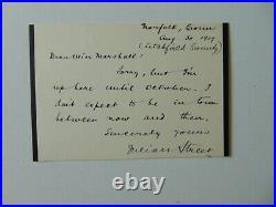 American Author Julian Street Hand Written Letter on 3.5X5 Card Mueller COA