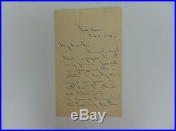 American Bar Assoc Founder Edward John Phelps Hand Written Letter Mueller COA