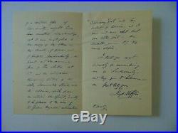Americas Greatest Sonneteer Lloyd Mifflin Hand Written Letter Mueller COA