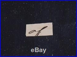 Andrew Jackson Hand Written Word From Letter (of) 18x22 Framed Display JSA