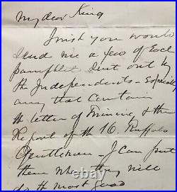 Antique 1884 Handwritten Signed Autograph Letter Henry Ward Beecher Peekskill NY