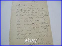 Antique Hand Written Letter Autograph By Frank Sanborn American Abolitionist