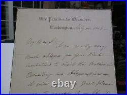Antique Hand Written Letter Autograph Early American Lafayettte S Foster Senate