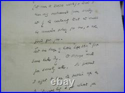Antique Hand Written Letter Autograph Famous Writer Novelist Hall Caine Rare Old