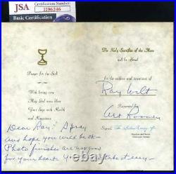 Art Rooney JSA Coa Autograph Hand Signed Handwritten Get Well Card