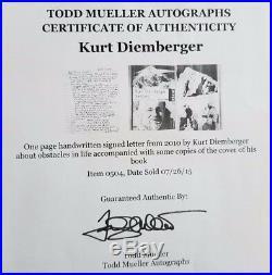 Austrian Mountaineer Kurt Diemberger Hand Written Letter Todd Mueller COA