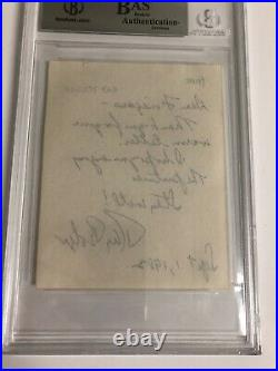 Autographed Ray Bolger Hand Written Letter Beckett Certified Signed Wizard Of Oz