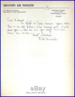 Aviation Pioneer Pilot Dick Merrill Original Autograph handwritten letter + post