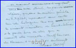 BIOLOGIST Alexis Carrel NOBEL PRIZE autograph, handwritten letter signed & mount