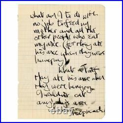 Beatles John Lennon Hand Drawn Sketch And Handwritten Letter C. 1961 (UK)
