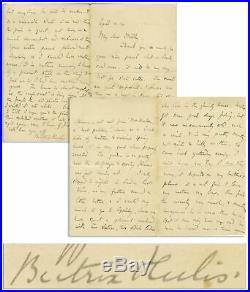 Beatrix Potter Handwritten Letter Signed