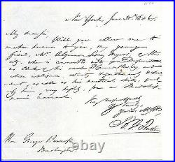 Benjamin F. Butler, Attorney General Handwritten Letter Signed in 1846 with COA