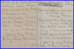 Benjamin Harrison clip with handwritten letter from his widow Mary Harrison