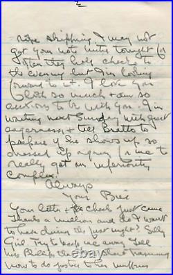 Bill Tilden (+) TENNIS autograph, handwritten letter signed