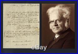 Björnstjerne Björnson NOBEL PRIZE autograph, handwritten letter signed & mounted