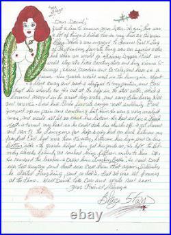 Blaze Starr great content handwritten letter JOHN F KENNEDY drawings & more JFK