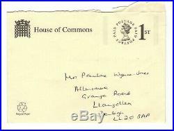 Boris Johnson Original Hand-written And Hand-signed Letter & Envelope