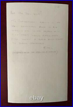 British Prime Minister Sir Robert Peel handwritten/signed letter 1849