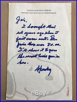 CHARLES SCHULZ HAND WRITTEN SIGNED LETTER Peanuts Snoopy autograph autographed