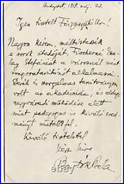 COMPOSER Bela Bartok autograph, handwritten letter signed & mounted