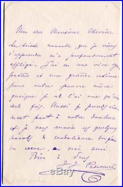 COMPOSER Ignacy Jan Paderewski autograph, handwritten letter signed & mounted