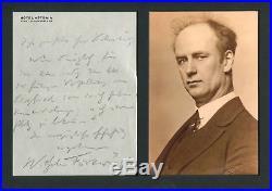 CONDUCTOR Wilhelm Furtwängler autograph, handwritten letter signed & mounted