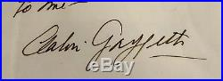 Calvin Griffith Minnesota Twins Hand-Written Letter Signed Autographed Auto 8x10