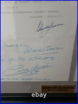 Carlos Monzon boxing Hand Signed Autograph Hand written Letter extremely rare
