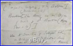 Charles Darwin Signed Autographed 4x7 Evolution Handwritten Letter Beckett BAS