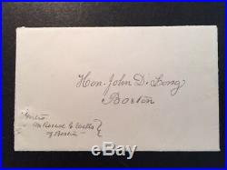 Clara Barton Historic Handwritten Letter Signed With American Red Cross Content