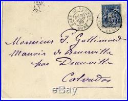 Claude Monet IMPRESSIONIST autograph, handwritten letter signed & original envel