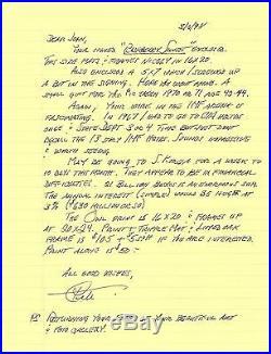Cmdr Lloyd Pete Bucher very rare hand written / autographed letter