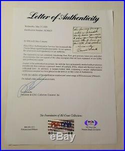 Connie Mack Handwritten Letter Auto Signed Autograph PSA DNA HOF Manager