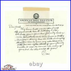 Connie Mack Signed Handwritten Autographed Letter