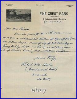 DEADWOOD DICK autographed handwritten letter! United States frontiersman, Pony