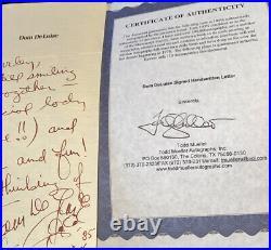 DOM DELUISE Signed Handwritten Letter COMEDY LEGEND Sketch Doodle Autograph
