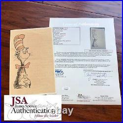 DR SEUSS JSA LOA Handwritten Autograph Letter Signed Cat In The Hat