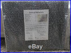 Daniel Boone Hand Written Word Cut From Letter In 18x22 Framed Display JSA