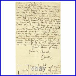 David Bowie 1969 4 Page Signed Handwritten Letter (UK)