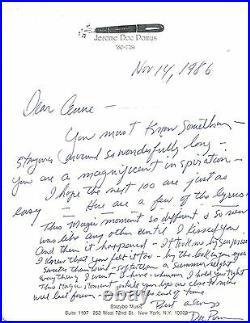 Doc Pomus Handwritten Letter This Magic Moment Lyrics Signed in 1986 with COA