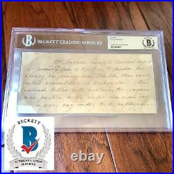 Dolley Madison BAS Beckett Slabbed Autograph Handwritten Letter Signed James