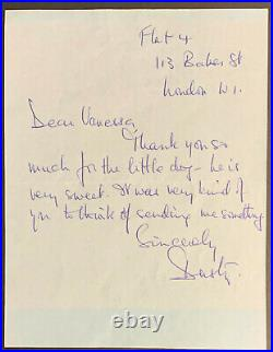 Dusty Springfield Hand Written Signed Letter + Concert Handbill Autographed LOA