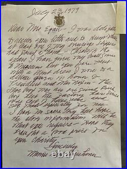 Dwight D. Eisenhower Signed And Maime Eisenhower Handwritten Letter And Picture