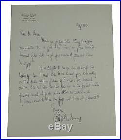 EDWARD L. BERNAYS Handwritten Autographed Letter SIGNED Propaganda PR ALS