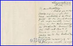 Eanger E Irving Couse SIGNED AUTOGRAPHED Handwritten Letter 1905 Taos Painter