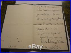 Edith Bolling Wilson Handwritten Signed Letter Psa/dna Loa Woodrow Wilson